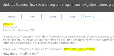 MegaMenu office 365 message.PNG