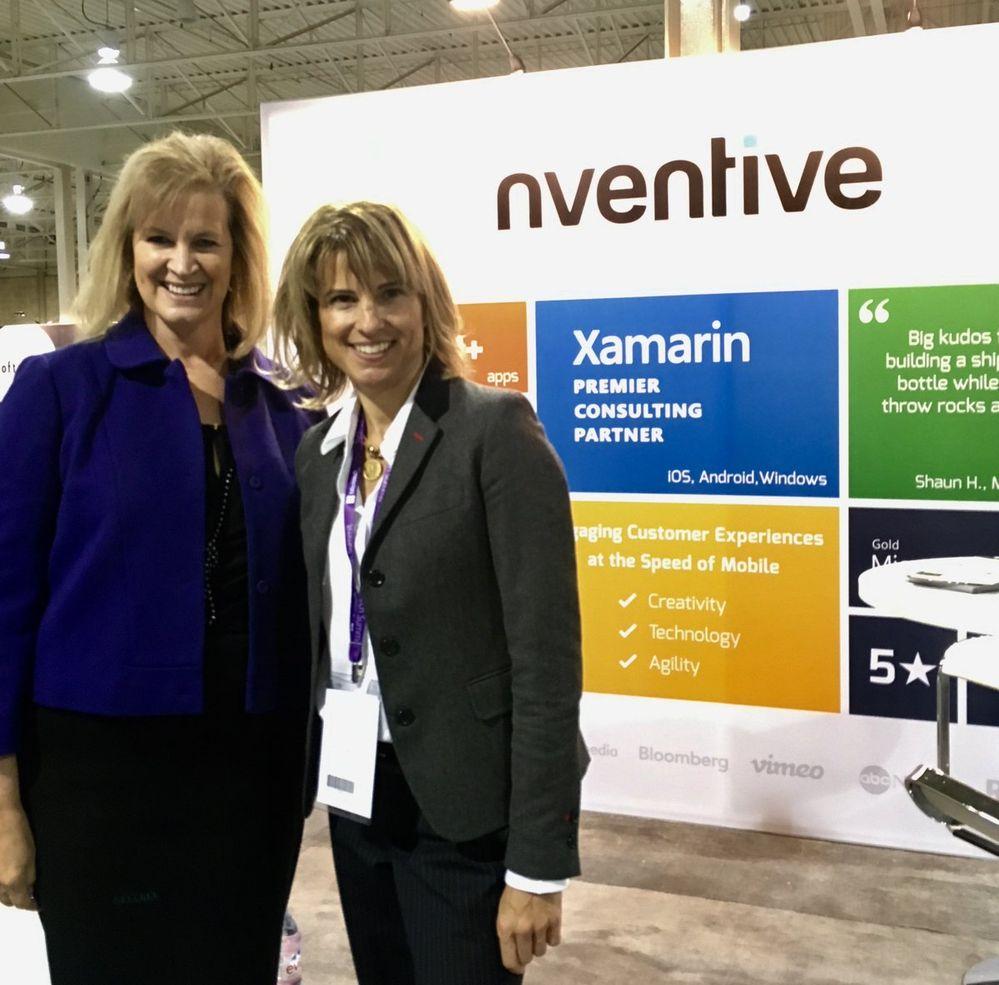 Janet Kennedy, President, Microsoft Canada (left).