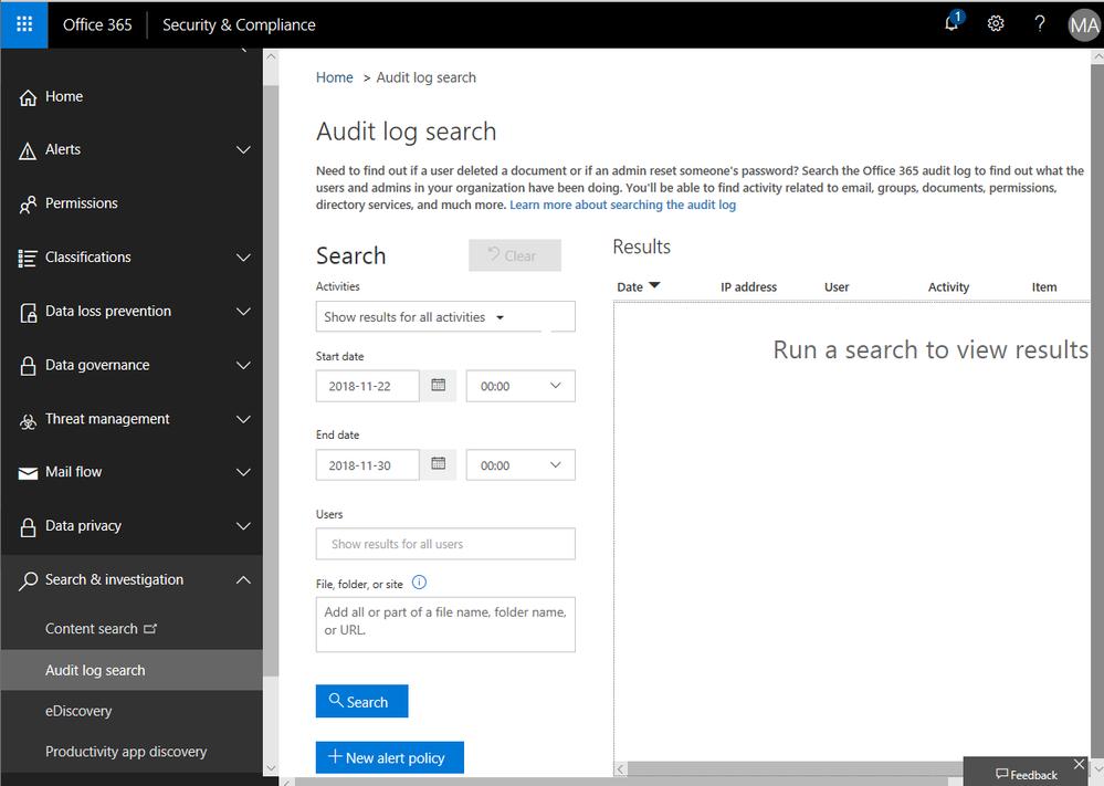 11. Audit log search.png