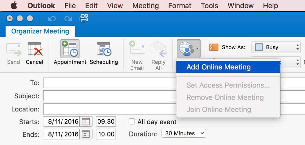Re Sending Email Invites From The Mac Client