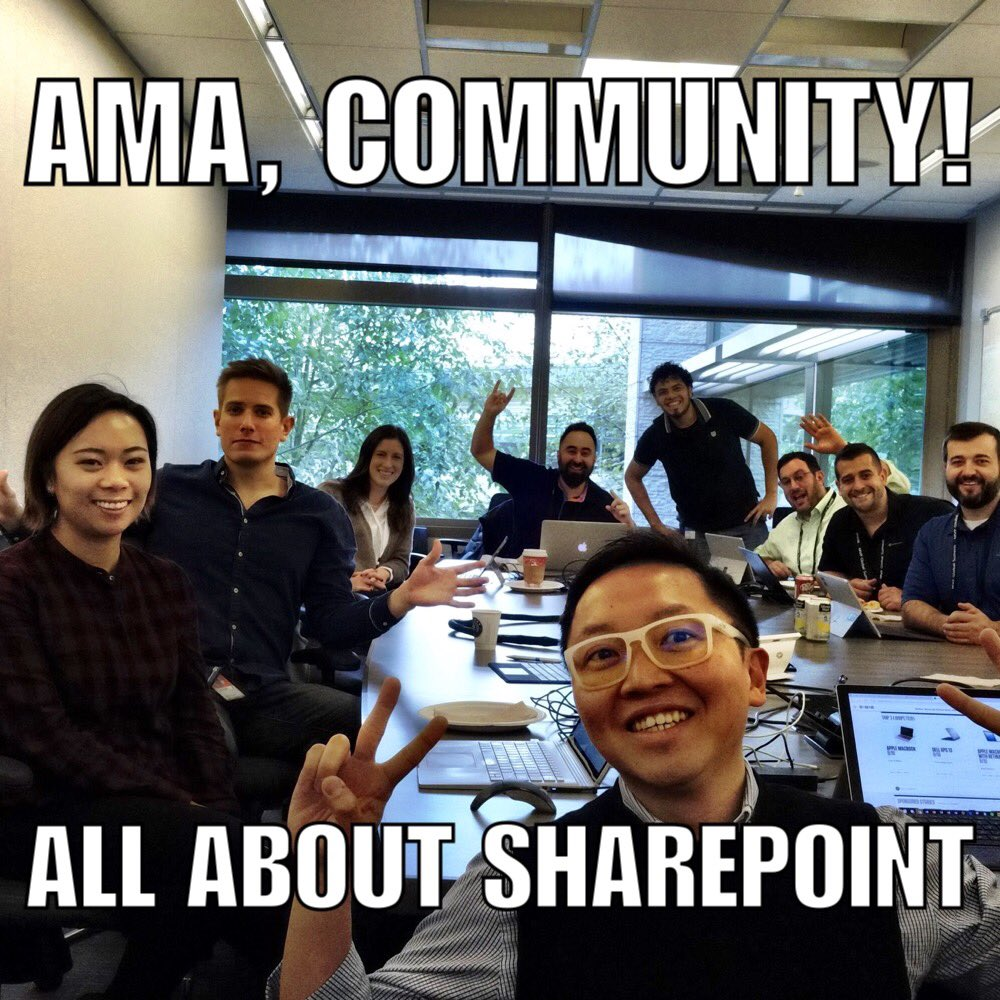 Announcing the SharePoint Ask Microsoft Anything (AMA)!
