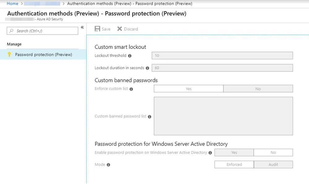 Azure AD Password Protection and Smart Lockout are now in