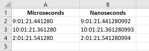 Timestamps in microseconds and nanoseconds.png