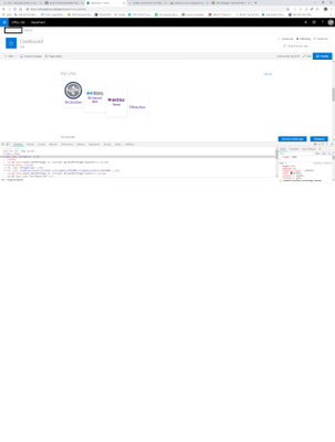 """Webpart as seen in host site with """"Modern Theme"""""""