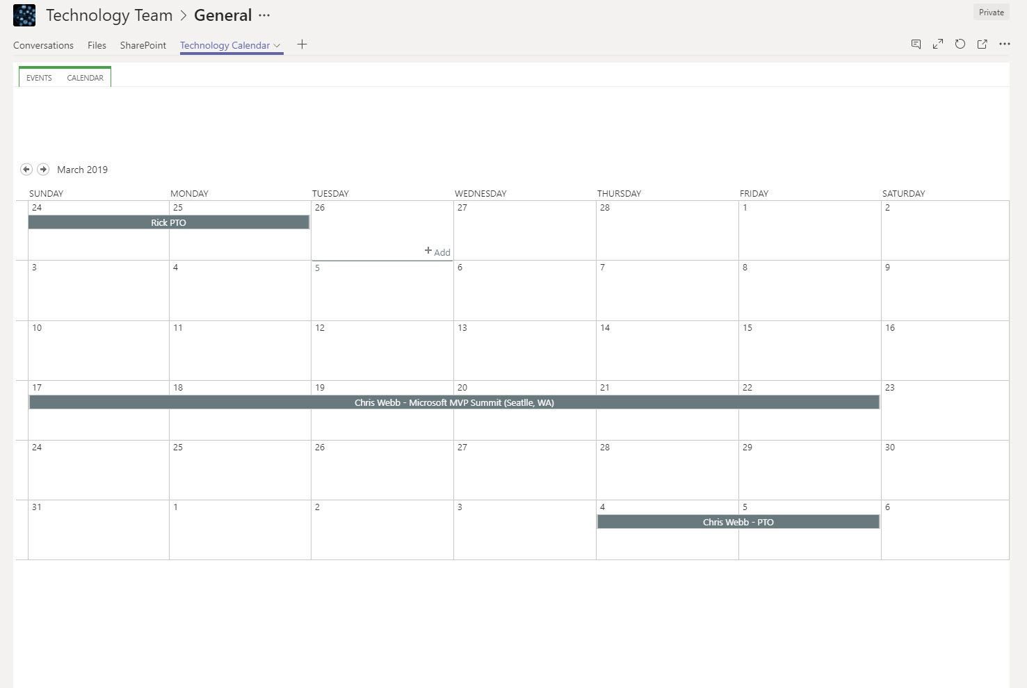 Sharing a Teams Calendar - Microsoft Tech Community - 359601