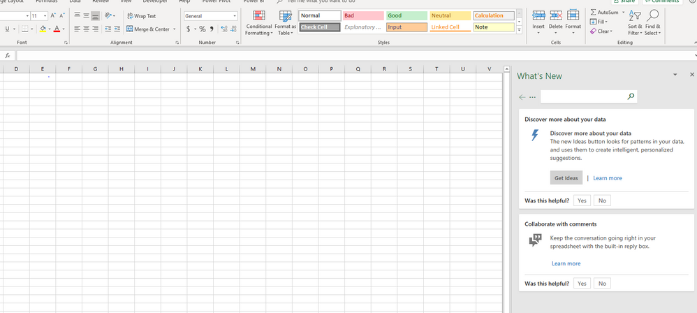 Excel 365 Ideas missing.PNG