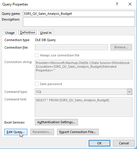 Workaround to access Power Query Editor
