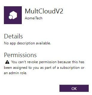 Unable to Revoke App Permission in Office365 - Microsoft