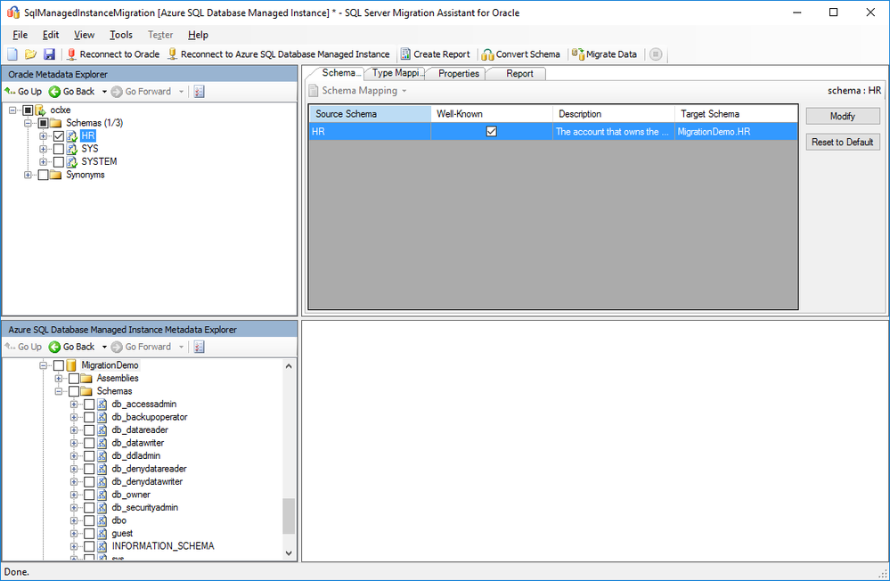 Migrate your Oracle database to Azure SQL Database Managed
