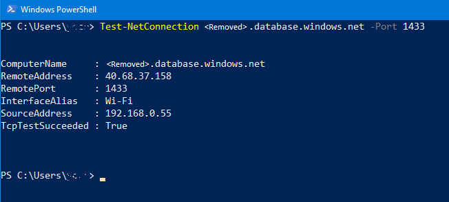 How to check connectivity to Azure SQL DB, Managed Instance