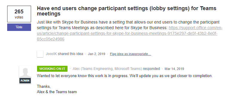 Disable Lobby in a Teams Meeting - Microsoft Tech Community