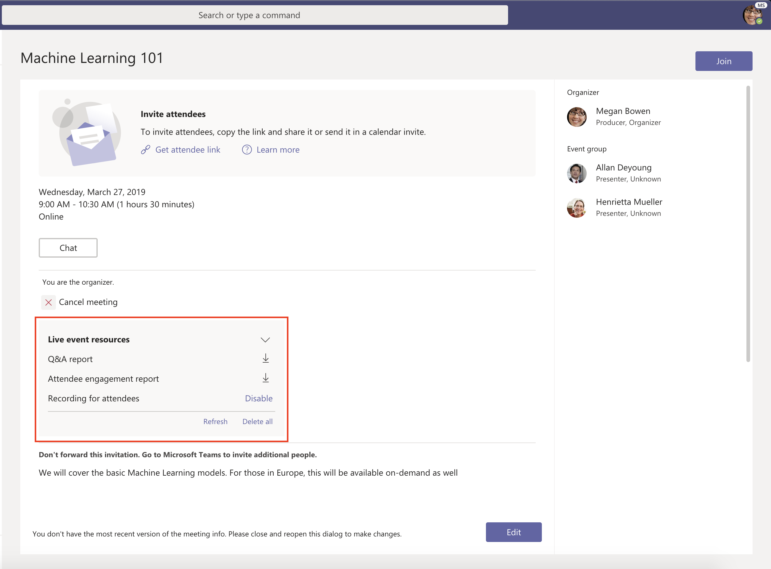 Live events now generally available in Microsoft Teams